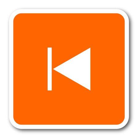 eject: prev orange flat design modern web icon