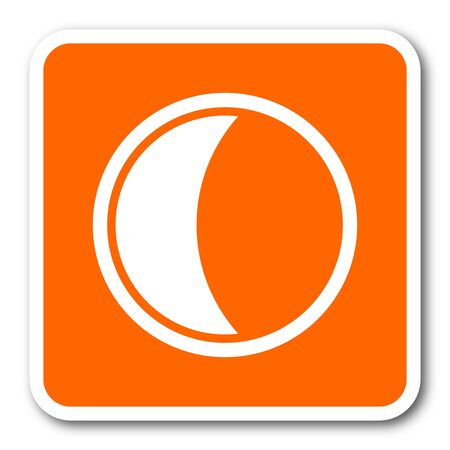 keys to heaven: moon orange flat design modern web icon