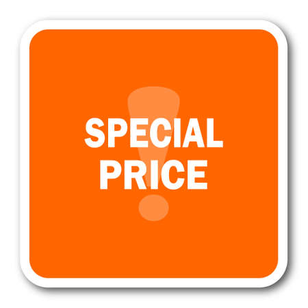 special price: special price orange flat design modern web icon