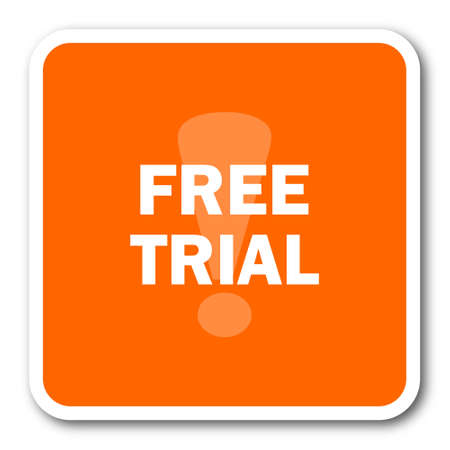 gratuity: free trial orange flat design modern web icon