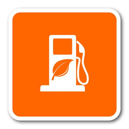 biofuel: biofuel orange flat design modern web icon