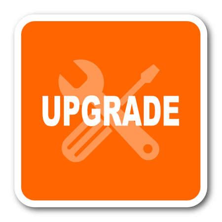 refreshed: upgrade orange flat design modern web icon Stock Photo