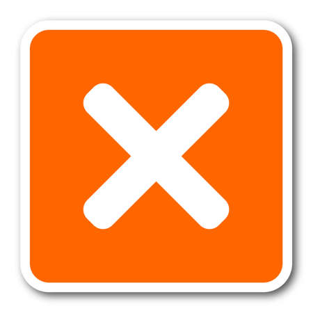 disagree: cancel orange flat design modern web icon
