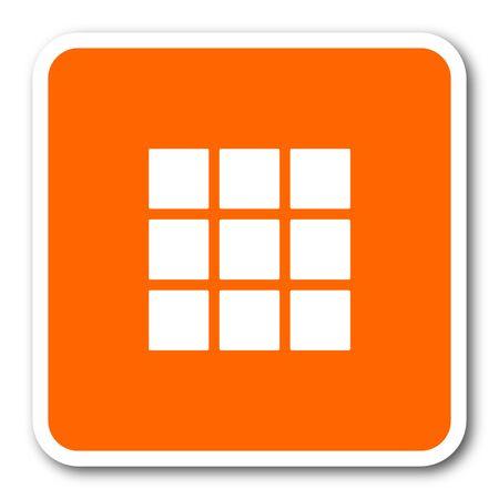 thumbnails: thumbnails grid orange flat design modern web icon