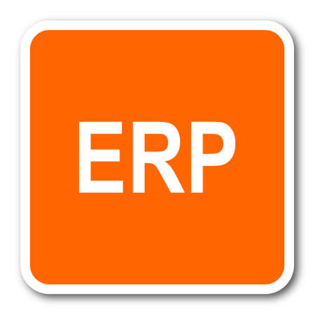 erp: erp orange flat design modern web icon