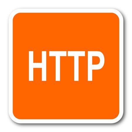 http: http orange flat design modern web icon Stock Photo