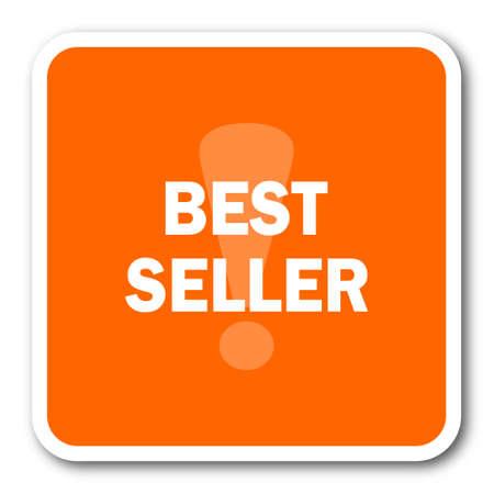best seller: best seller orange flat design modern web icon Stock Photo