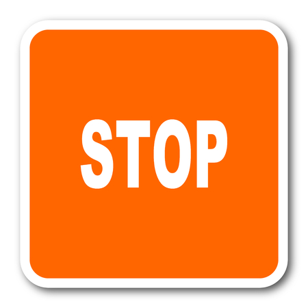 proscribed: stop orange flat design modern web icon
