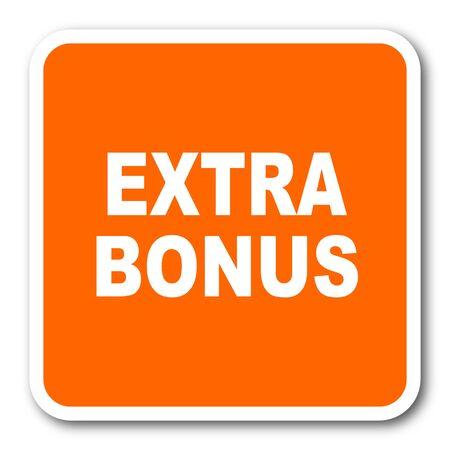 discounting: extra bonus orange flat design modern web icon