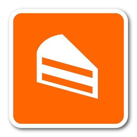 orange cake: cake orange flat design modern web icon