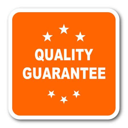 quality guarantee: quality guarantee orange flat design modern web icon Stock Photo