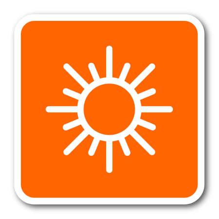 predict: sun orange flat design modern web icon