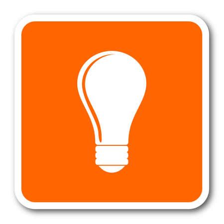 engineering icon: bulb orange flat design modern web icon