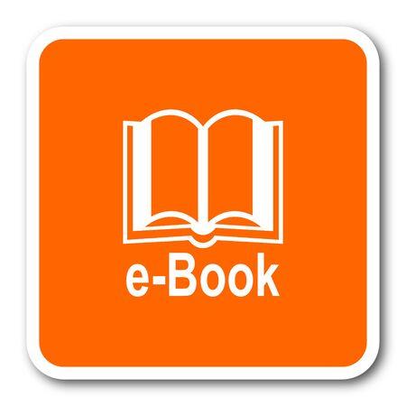 key pad: book orange flat design modern web icon