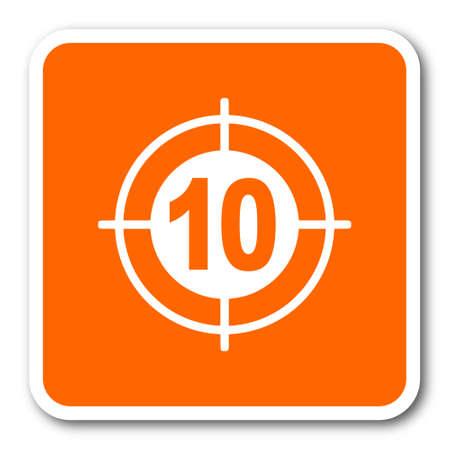 validate: target orange flat design modern web icon Stock Photo