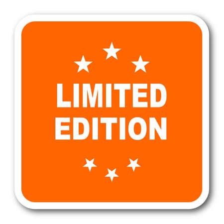 limited edition: limited edition orange flat design modern web icon Stock Photo