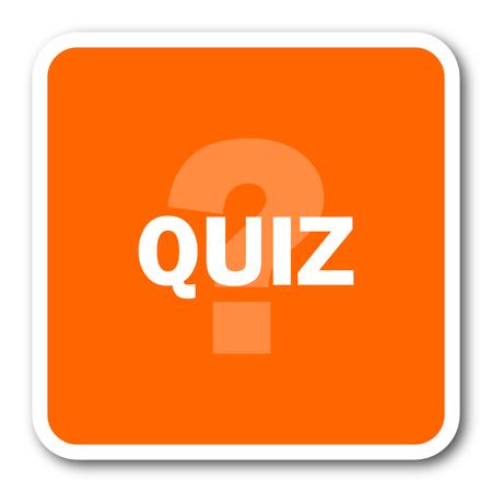 quiz: quiz orange flat design modern web icon
