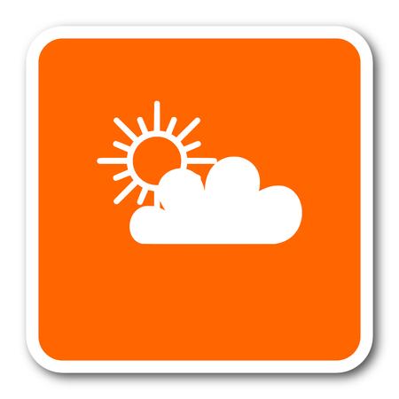predict: cloud orange flat design modern web icon