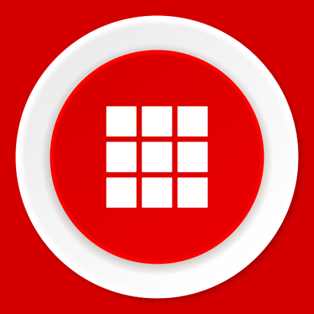 thumbnails: thumbnails grid red flat design modern web icon