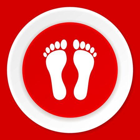 orthopedics: foot red flat design modern web icon