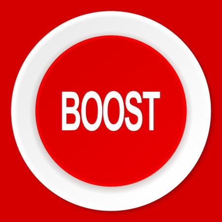 boost: boost red flat design modern web icon