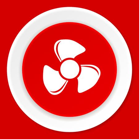 red fan: fan red flat design modern web icon