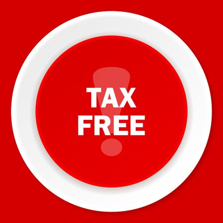 fiscal: tax free red flat design modern web icon
