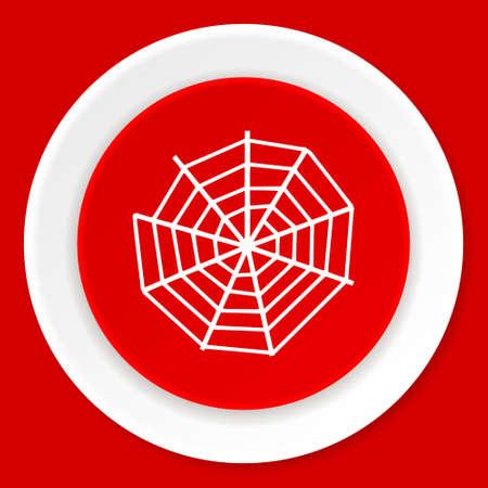 spider web: spider modern web red flat design modern web icon