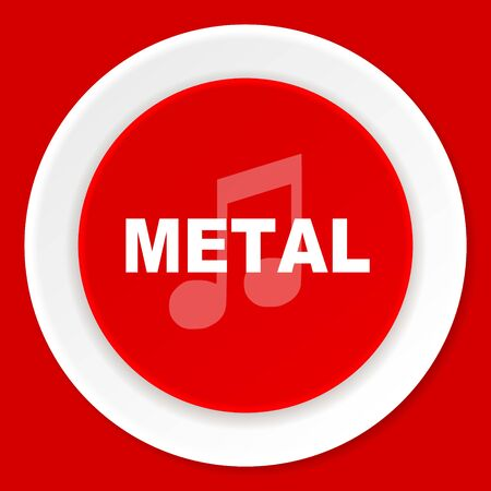 listen live stream: metal music red flat design modern web icon