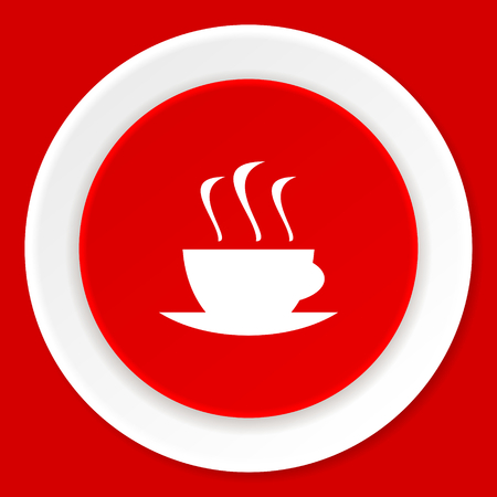 business concepts: espresso red flat design modern web icon