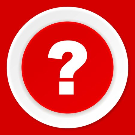 quest: question mark red flat design modern web icon