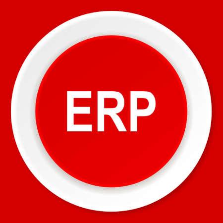 erp: erp red flat design modern web icon