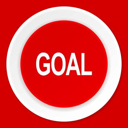 interface scheme: goal red flat design modern web icon