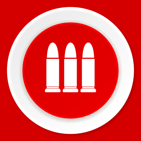 ammunition: ammunition red flat design modern web icon