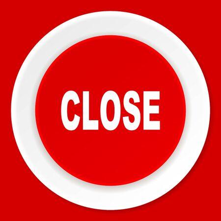 closure: close red flat design modern web icon