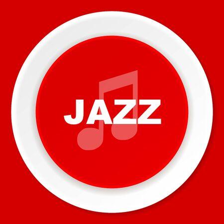 listen live stream: jazz music red flat design modern web icon