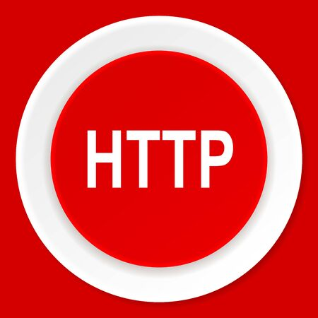 http: http red flat design modern web icon