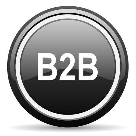 b2b: b2b black circle glossy web icon