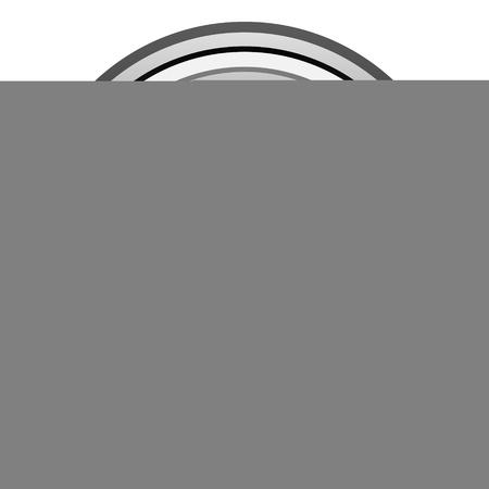 40: 40 percent black circle glossy web icon Stock Photo