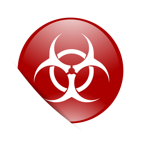 bacterioa: biohazard red circle glossy web icon