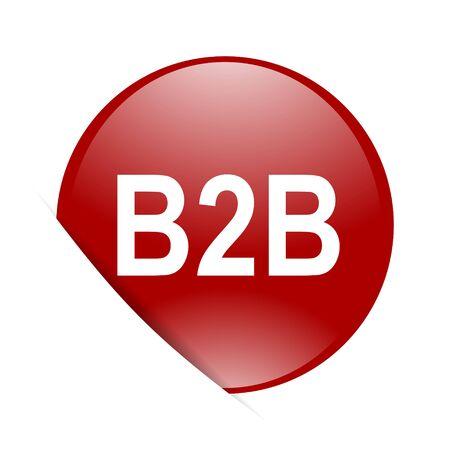 b2b: b2b red circle glossy web icon
