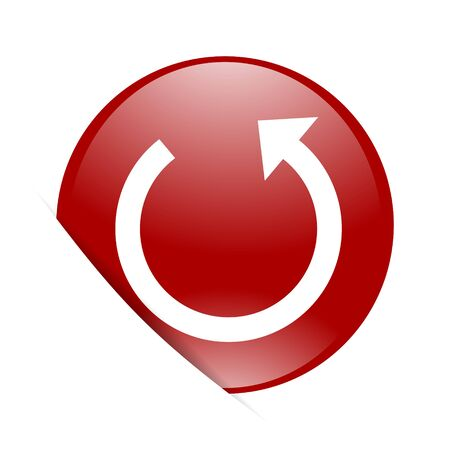 rotate: rotate red circle glossy web icon