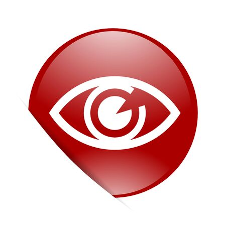 eye red: eye red circle glossy web icon