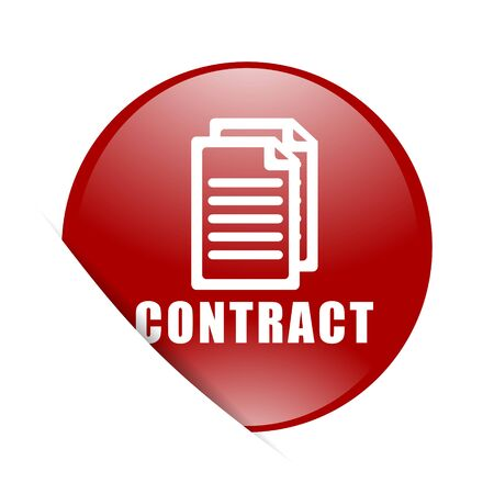 icom: contract red circle glossy web icon