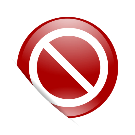 web access: access denied red circle glossy web icon