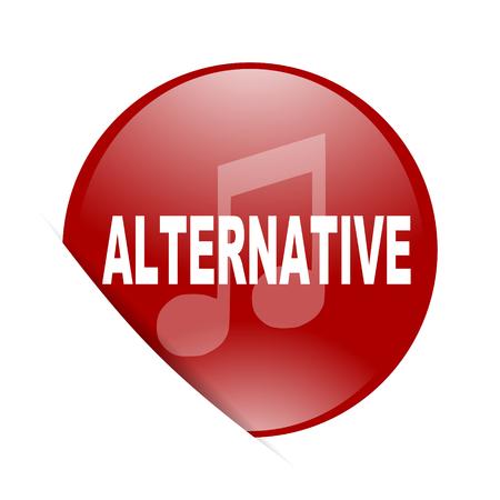 listen live stream: alternative music red circle glossy web icon