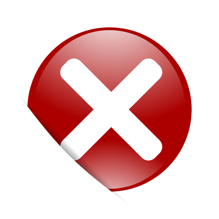 cancel red circle glossy web icon