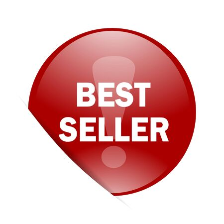seller: best seller red circle glossy web icon