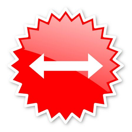 sterring: arrow red tag, sticker, label, star, stamp, banner, advertising, badge, emblem, web icon