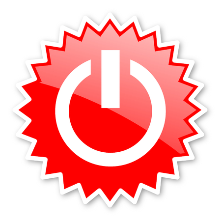 run off: power red tag, sticker, label, star, stamp, banner, advertising, badge, emblem, web icon